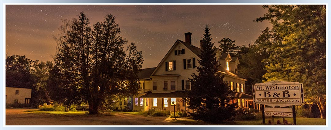 Night skies over Mt. Washington Bed and Breakfast